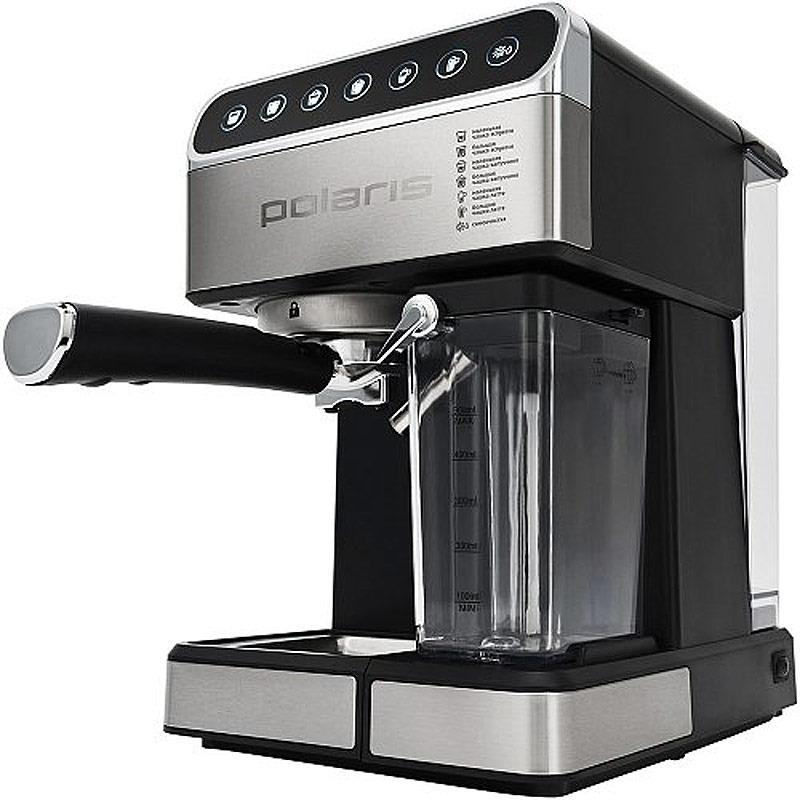 цена на Кофеварка рожковая Polaris, PCM 1535E Adore Cappuccino, черный