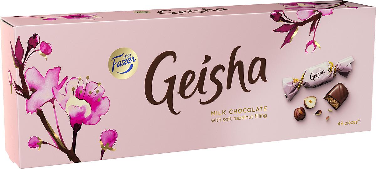 Конфеты Fazer Geisha с начинкой из тертого ореха, 270 г lord миндальный марципан со вкусом лайма шоколадные конфеты с начинкой 155 г
