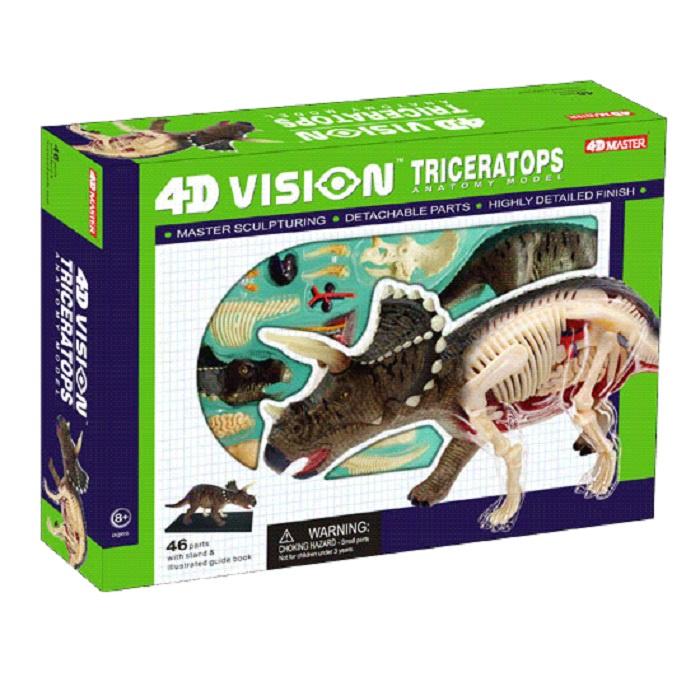 цена Набор для опытов 4D Master Динозавр Трицератопс анатомическая модель пазл онлайн в 2017 году