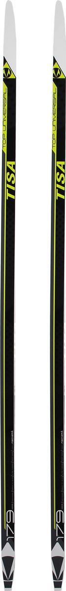 Лыжи беговые Tisa Top Universal, N90618, черный, желтый, рост 204 см беговые лыжи karjala snowstar 3913 с креплением 75 мм желтый рост 110 см