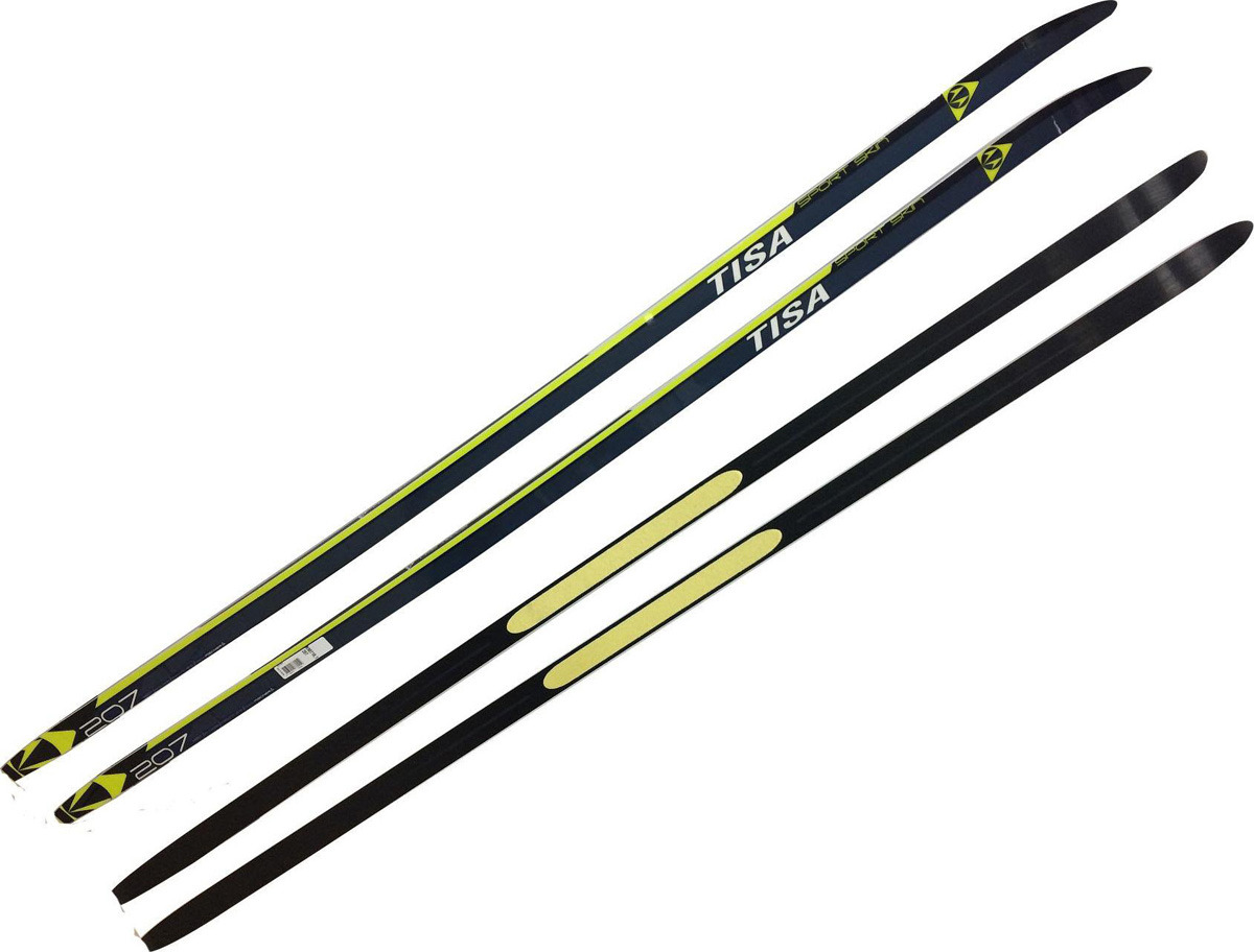 Лыжи беговые Tisa Sport Skin, цвет: черный, рост 182 см