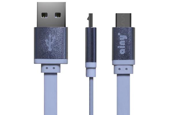 Фото - Кабель Ainy USB, micro USB, 1 м, FA-047B, белый запчасти для mp3 плееров