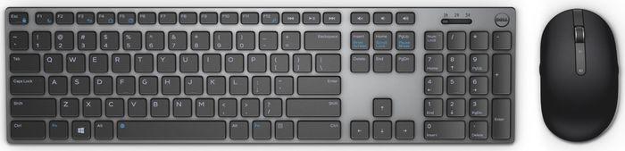 Клавиатура + мышь Dell KM717 USB беспроводная, 580-AFQF, черный