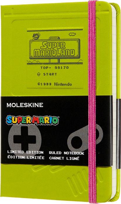 Блокнот Moleskine Limited Edition Super Mario Pocket 90x140мм, 192стр., линейка, цвет: зеленый цена