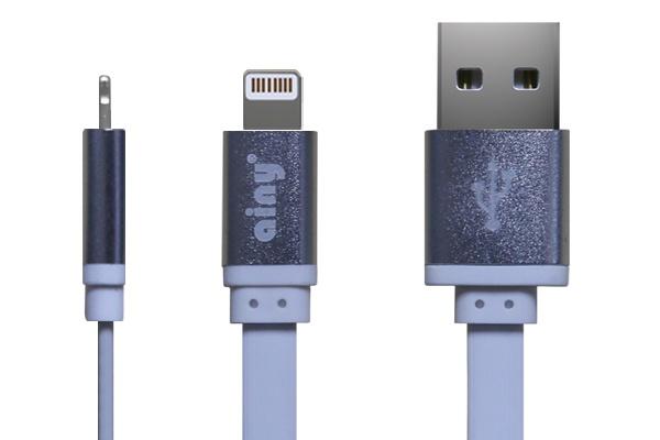 лучшая цена Кабель Ainy USB Apple iPhone 5/5S/5C/6/6Plus/iPad Mini/Air, 1 м, FA-052B, белый
