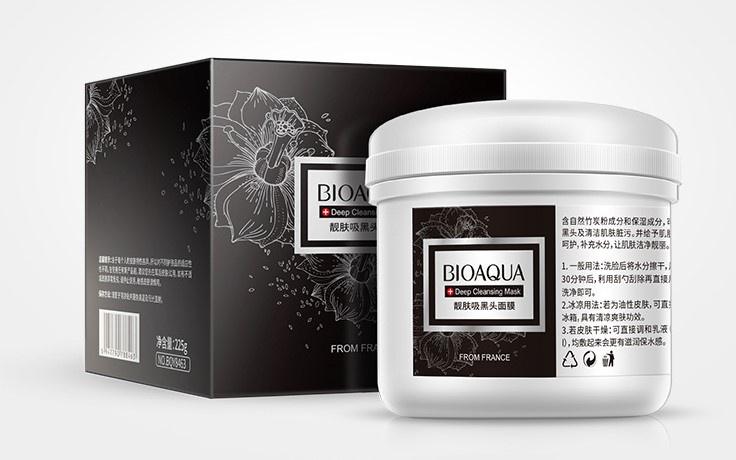 Bioaqua глубоко очищающая маска для лица с бамбуковым углем, 225 гр.788463Бамбуковый уголь в составе маски оказывает усиленное очищающее и антибактериальное действие: глубоко очищает поры от загрязнений, удаляет омертвевшие клетки, излишки кожного сала, регулирует работу сальных желез. Маска идеально матирует кожу, сужает расширенные поры и выравнивает цвет кожи, дарит лицу здоровый отдохнувший вид без жирного блеска. Кожа становится удивительно мягкой и нежной на ощупь.