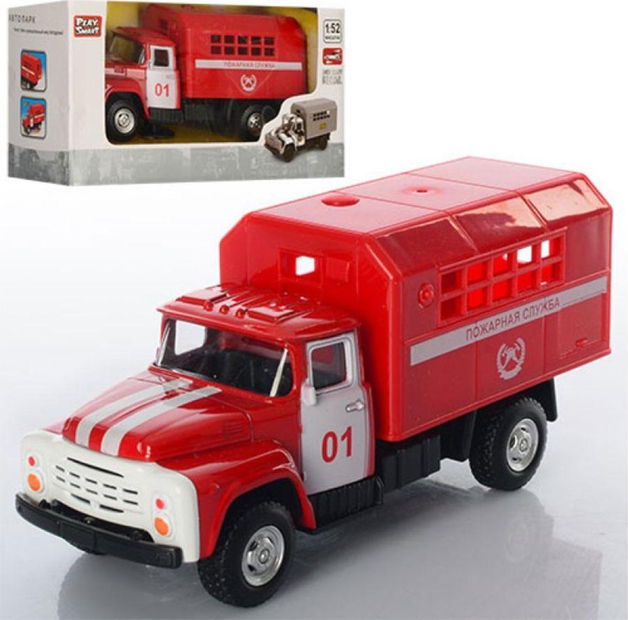 Машинка инерционная Play Smart Пожарная служба, Р49218 машина инерционная play smart пожарная 1 54