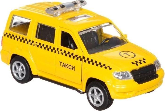 Машинка инерционная Play Smart УАЗ Патриот 3183. Такси, Р41601 машинка инерционная play smart зил огнеопасно р49222