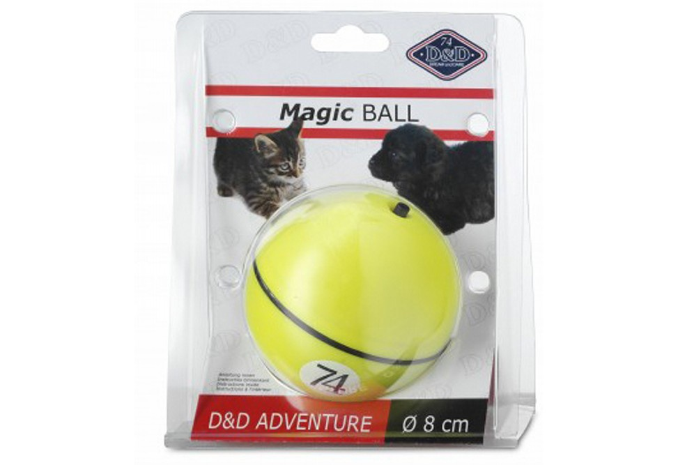 Игрушка для животных EBI (Europet Bernina International) - Нидерланды. D&D Adventure MagicBall, электронная игрушка, на батарейках, 8 см., желтый цена