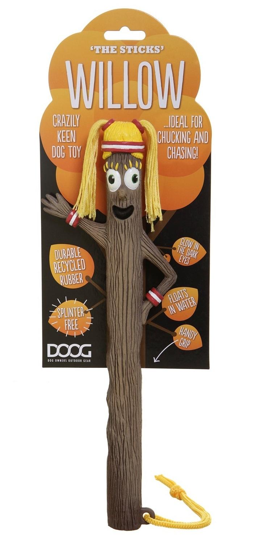 Игрушка Doog The sticks Willow для собак, STICK06STICK06Забавные игрушки серии The Stick , безопаснее, чем настоящая палка и намного веселее. Палочка обладает высоким качеством, которое делает ее долговечной и безвредной для здоровья. Игрушка производится из термопластичной резины, не выделяет опасных химических веществ, хорошо сохраняет внешний вид и цвет, легко моется с применением специальных средств. Игрушка не тонет в воде, веревочкой будет удобно воспользоваться при совместных играх с вашим питомцем или для ношения. Современный, яркий, необычный дизайн, непременно понравится вашему питомцу.