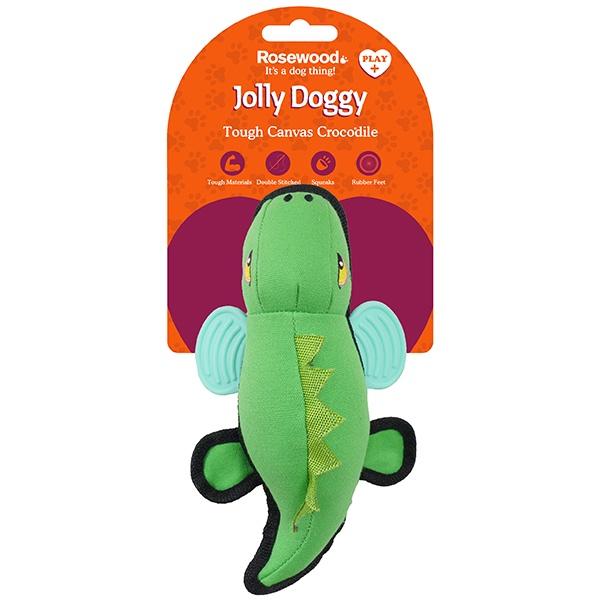 """Игрушка Rosewood Jolly Doggy Tough Canvas """"Кроко"""" плотный текстиль для собак, 39035/RW, 27 см"""