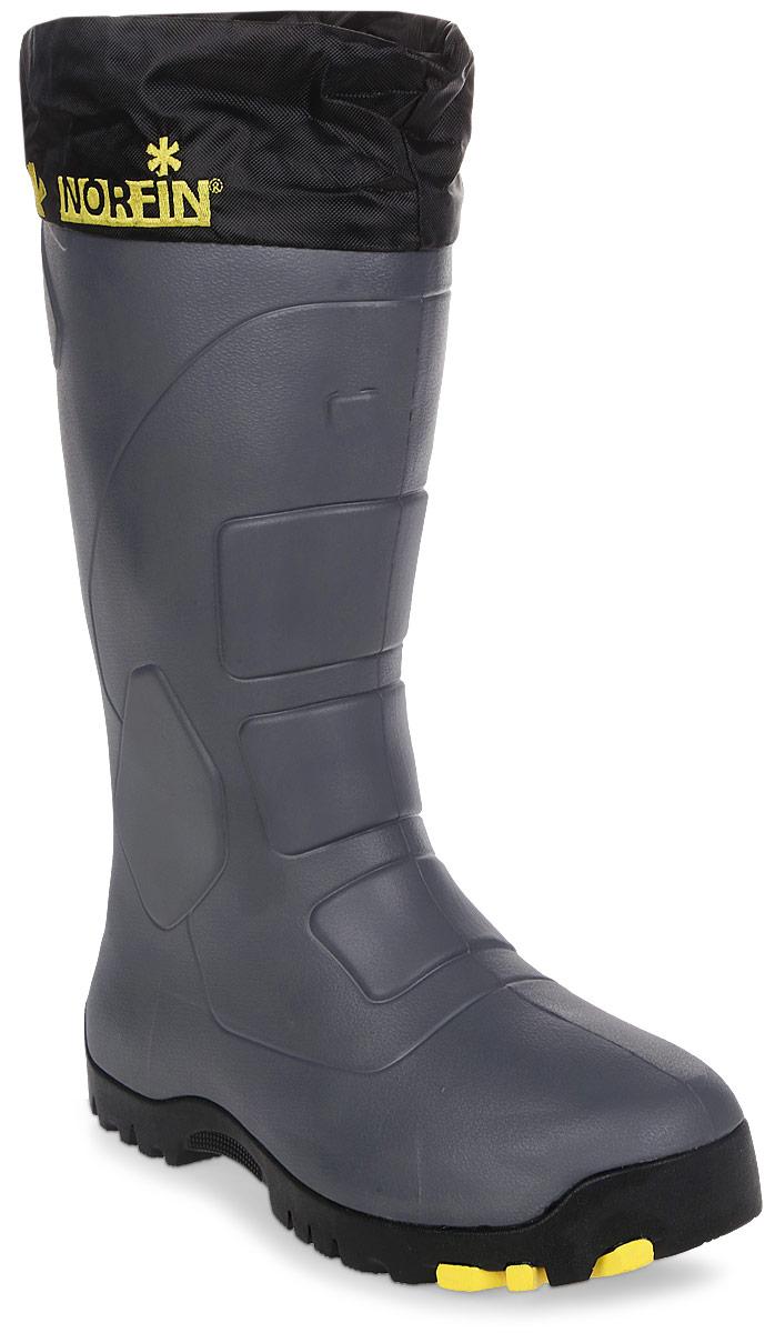 Сапоги для рыбалки мужские Norfin Klondaik, цвет: серый, черный. 14990. Размер 46