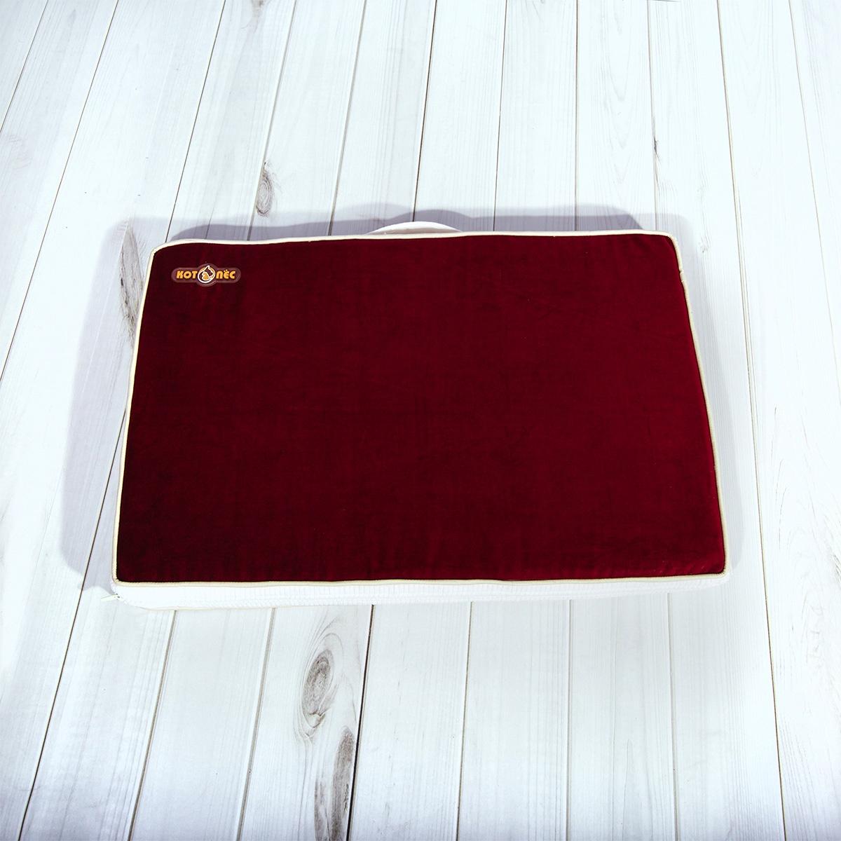 Матрас для животных Котопес Memory Foam, CD121/BU, 60 х 40 х 6 см, бордовый