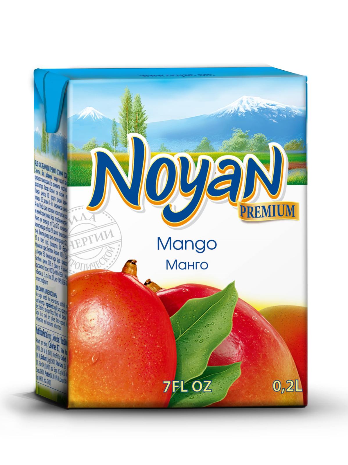 Нектар манго Noyan Premium, 200 мл