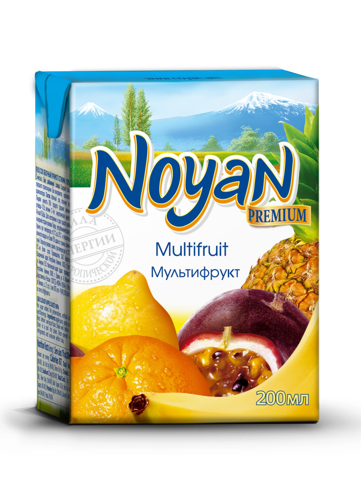 Нектар мультифрукт Noyan Premium, 200 мл