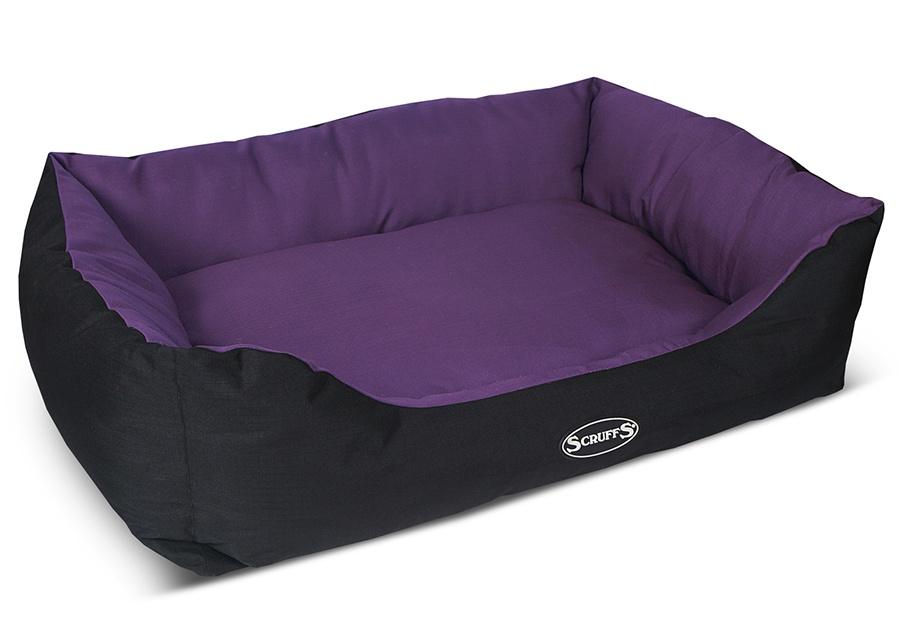 """Лежак для животных SCRUFFS (Великобритания) Expedition Box Bed водонепроницаемый, 60х50см, фиолетовый677434SCRUFFS Лежак для собак с бортиками """"Expedition"""", фиолетовый, 60х50см, водонепроницаемый (Великобритания).----------Scruffs Expedition лежак из прочной водоотталкивающей ткани Oxford 600D, это цельная конструкция, подушка в центре лежака, это часть конструкции, которая увеличивает прочность и долговечность лежака.Наполнитель лежака 100% эко-волокно, которое придает мягкость и комфорт.Лежак имеет нескользящее основание.Внешний цвет чехла - черный.В основание вмонтирована скрытая молния, чтобы вы могли достать подушку, пред стиркой.----------Допускается ручная стирка при 30 градусах.----------Размер: 60*50 смБренд SCRUFFS (Великобритания)."""