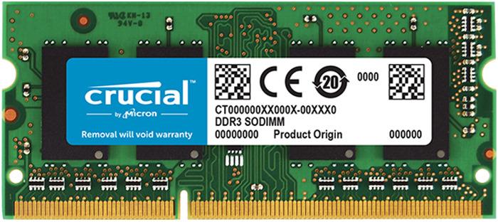 Модуль оперативной памяти Crucial DDR3L 2Gb 1600MHz, CT25664BF160B модуль памяти dimm 8gb ddr3l pc12800 1600mhz kingston kvr16ln11 8