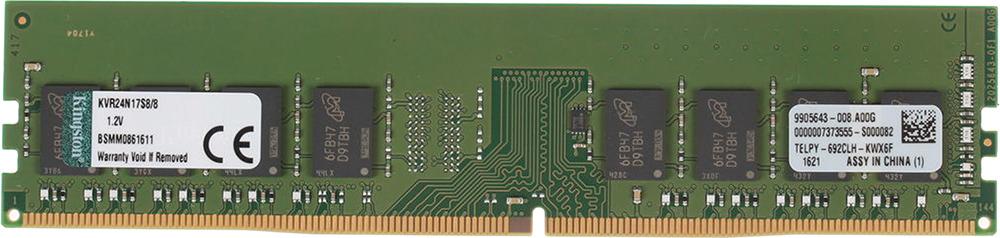 Модуль оперативной памяти Kingston DDR4 8Gb, KVR24N17S8/8 цена и фото