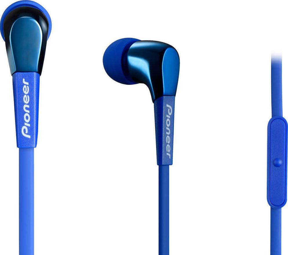 Гарнитура-вкладыши Pioneer, SE-CL722T-L, синий гарнитура pioneer se cl722t k черный