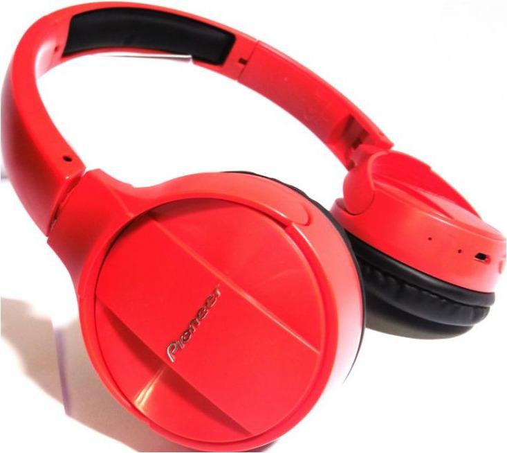 Беспроводные наушники Pioneer SE-MJ553BT, красный наушники беспроводные pioneer se e7bt r красные с микрофоном
