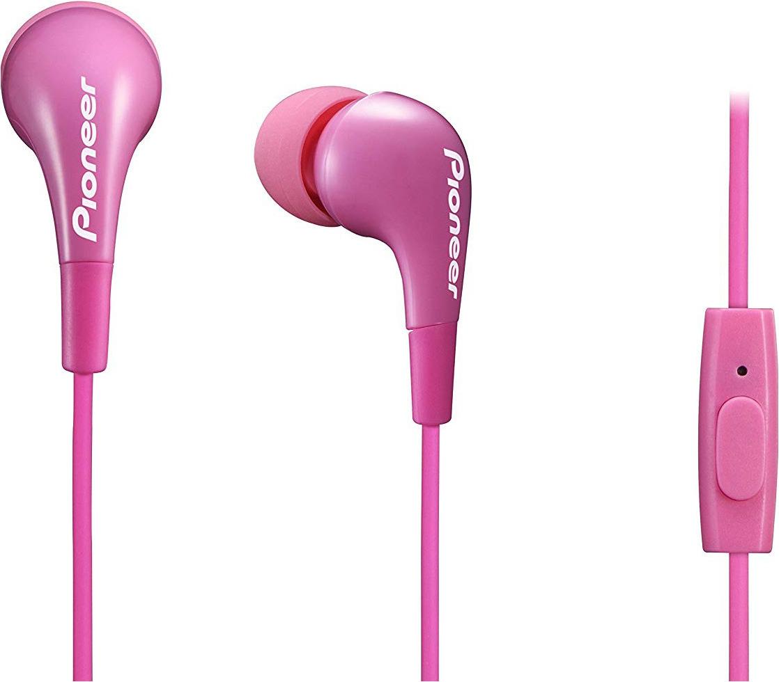 Гарнитура-вкладыши Pioneer, SE-CL502T-P, розовый гарнитура pioneer se cl502t k вкладыши черный проводные