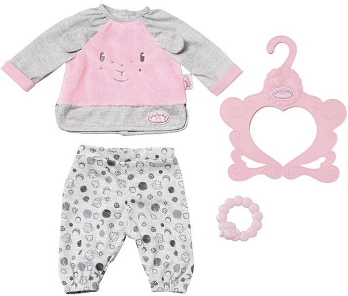 Пижама для кукол Zapf Creation Baby Annabell Спокойной ночи, 700-822 zapf creation одежда для куклы zapf creation baby annabell спокойной ночи платье и тапочки