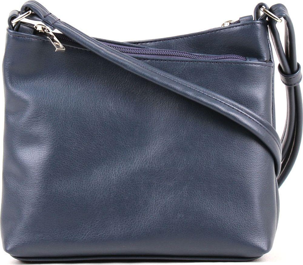 Сумка кросс-боди женская Медведково, 18с4117-к14, темно-синий сумка шоппер женская медведково цвет темно синий 16с3492 к14