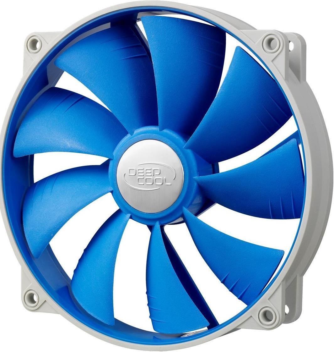 Вентилятор компьютерный Deepcool UF 140, UF-FAN140, белый, синий