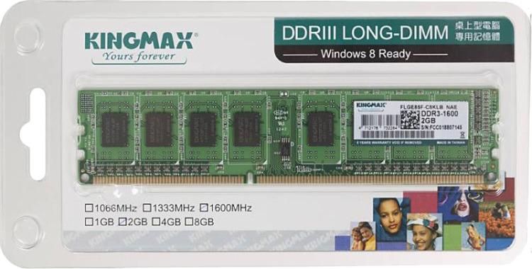 Модуль оперативной памяти Kingmax DDR3 2Gb 1600MHz, KM-LD3-1600-2GS