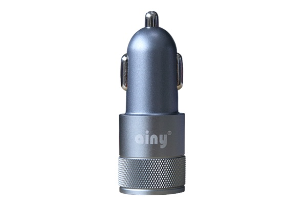 Автомобильное зарядное устройство Ainy 2 USB, EB-018K, серый зарядное устройство ainy 2xusb 1a 2a black eb 015a автомобильное