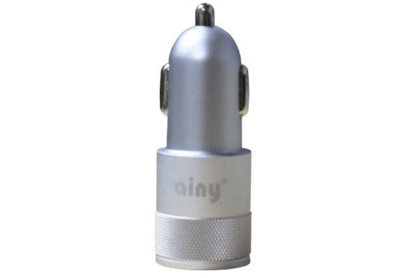 Автомобильное зарядное устройство Ainy 2 USB, EB-018Q, серебряный зарядное устройство ainy 2xusb 1a 2 4a eb 018a black