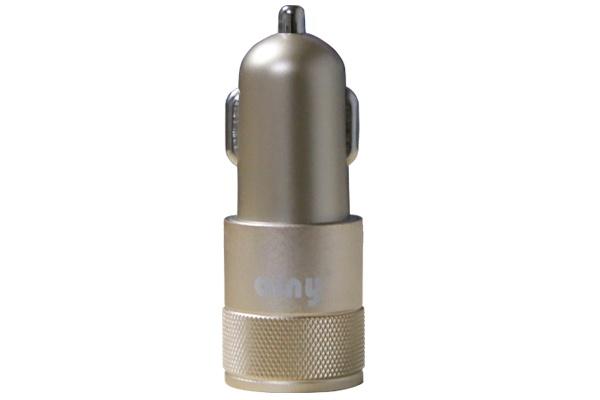 Автомобильное зарядное устройство Ainy 2 USB, EB-018L, золотой зарядное устройство ainy 2xusb 1a 2 4a eb 018a black