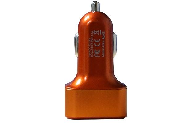 Автомобильное зарядное устройство Ainy 3 USB, EB-025I, оранжевый зарядное устройство ainy 2xusb 1a 2 4a eb 018a black