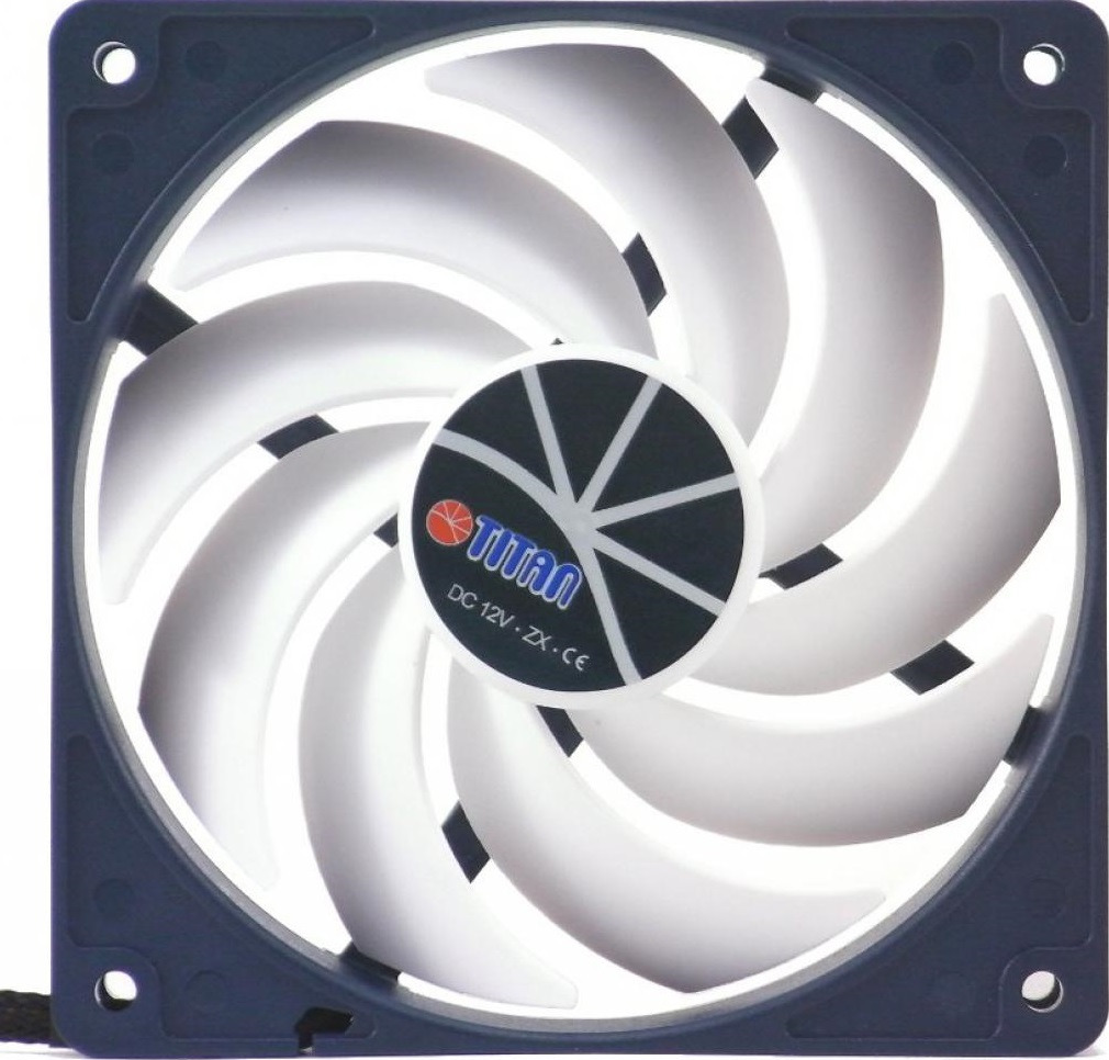 Вентилятор компьютерный Titan, TFD-12025H12ZP/KE(RB), белый, серый