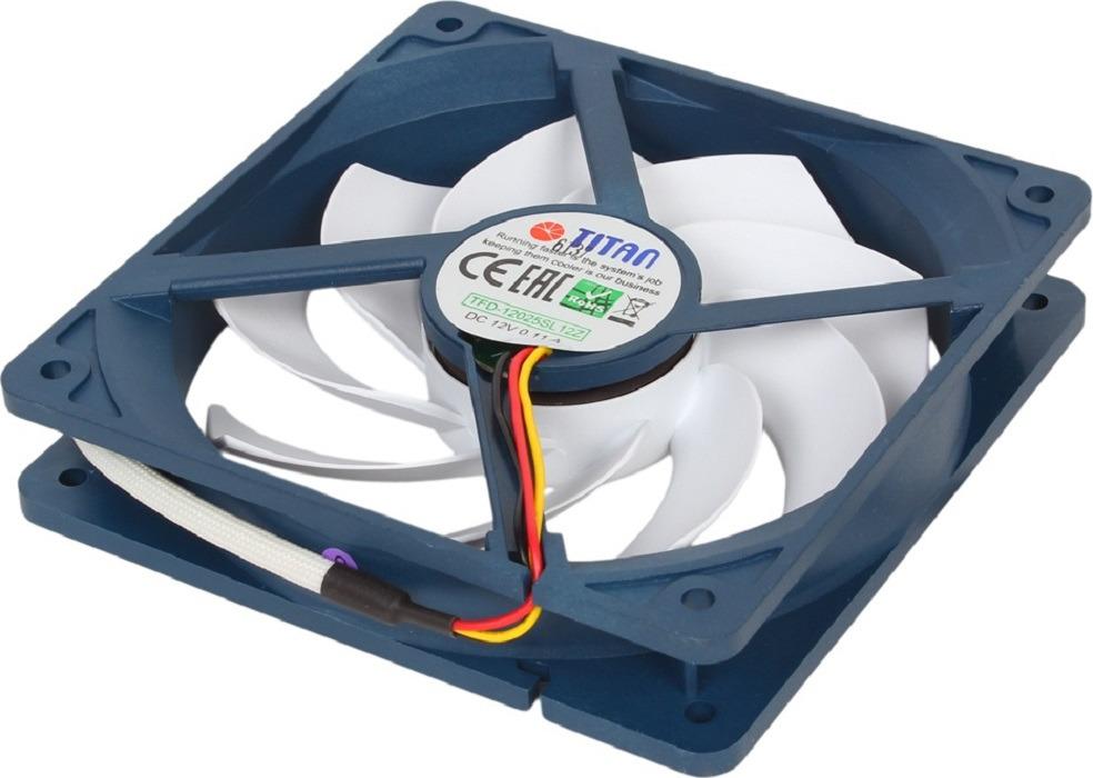 Вентилятор компьютерный Titan, TFD-14025H12ZP/KE(RB) вентилятор компьютерный titan ttc hd12tz
