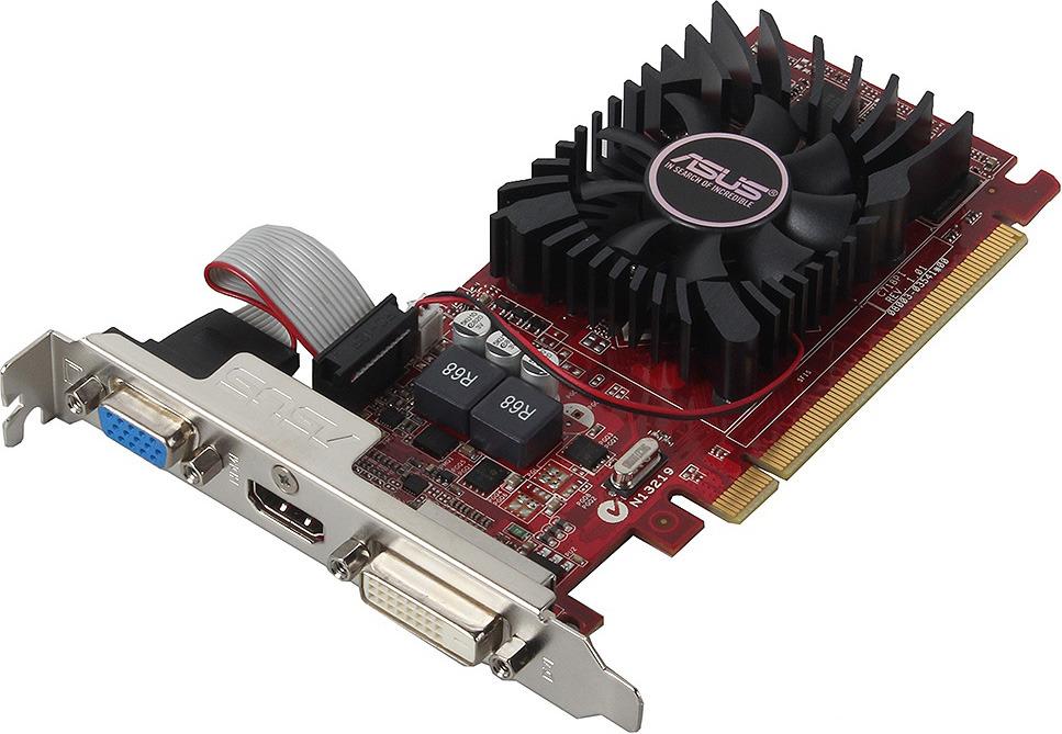 Видеокарта ASUS Radeon R7 240 OC Edition 4GB, R7240-OC-4GD3-L видеокарта asus amd radeon r7 240 r7240 2gd3 l 2гб ddr3 low profile ret