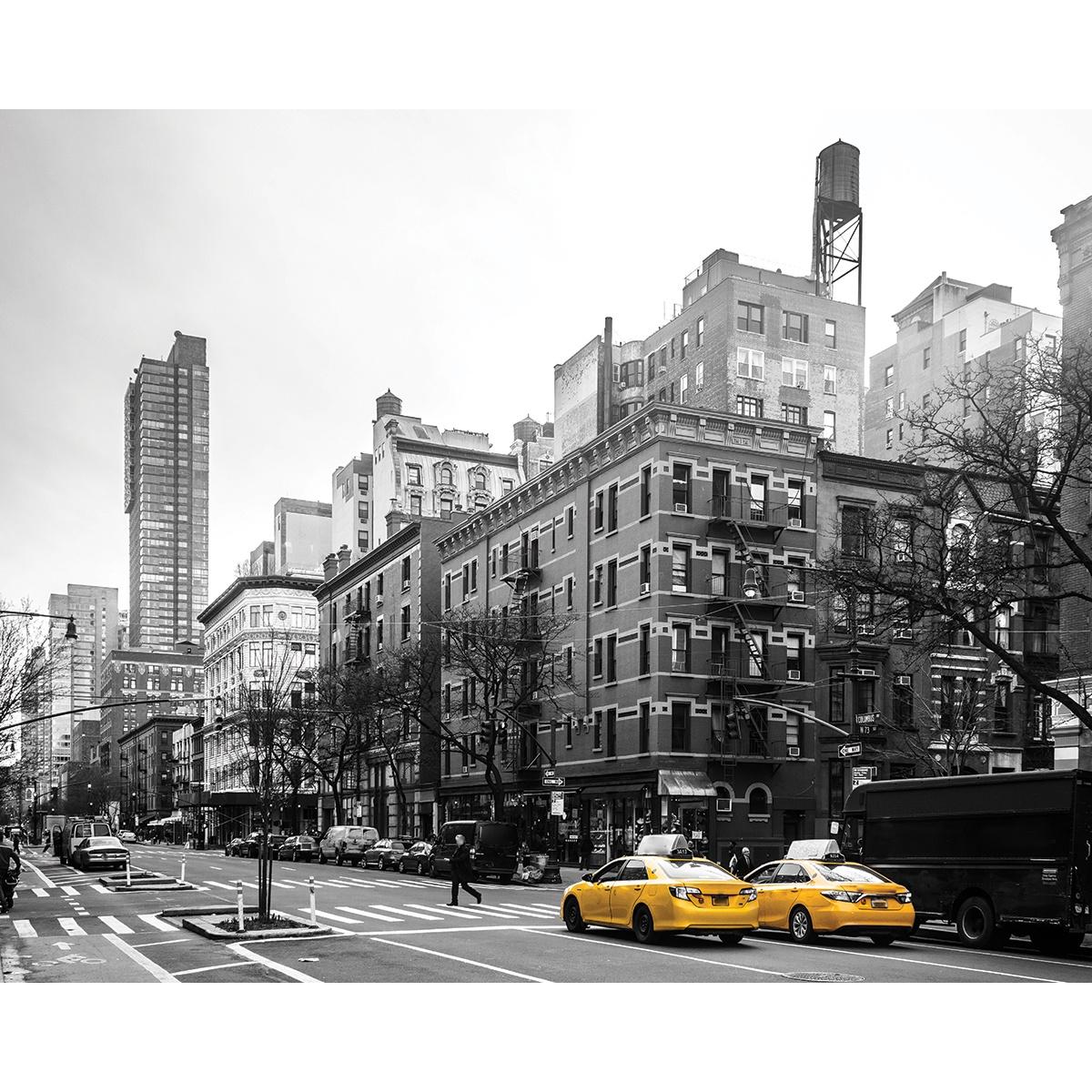 """Картина на холсте Экорамка """"Два такси"""", HE-101-519, 50x40 см"""