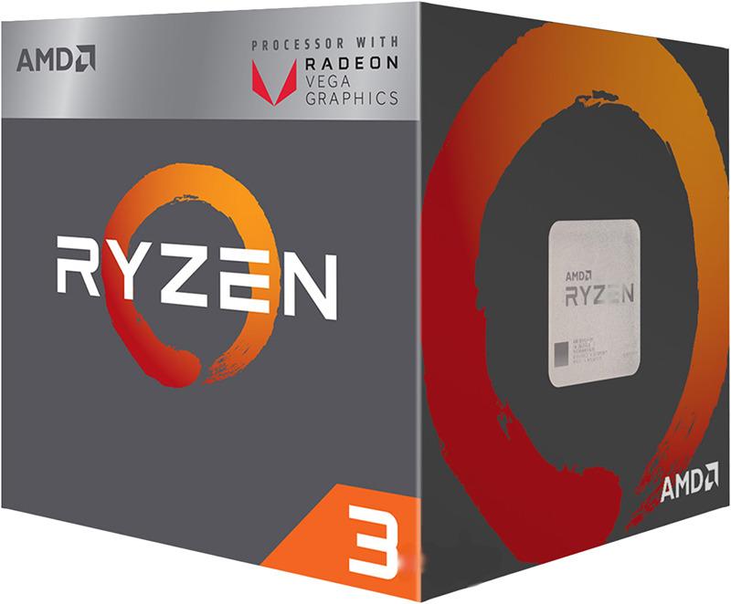 Процессор AMD Ryzen 3 2200G, YD2200C5FBBOX