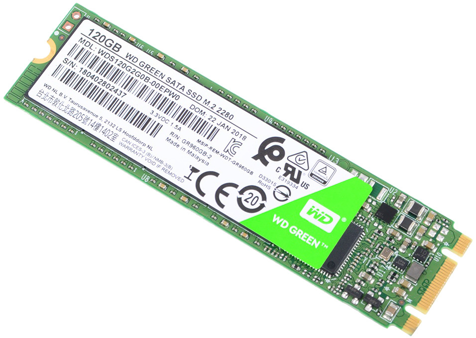 SSD накопитель WD Original 120GB, WDS120G2G0B, Green цена и фото