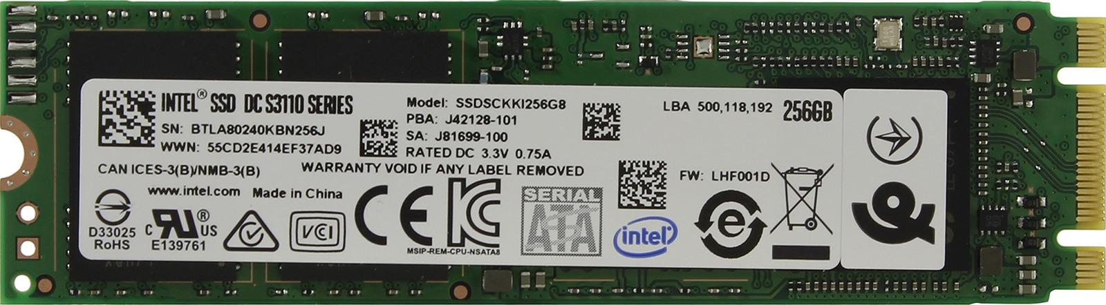 Фото - SSD накопитель Intel Original S3110 256GB, SSDSCKKI256G801 963856 it ceo it 700s 2 5 дюймовый жесткий диск type c usb3 1 для жестких дисков sata msata m 2 2242 2260 2280 твердотельный накопитель ssd черный