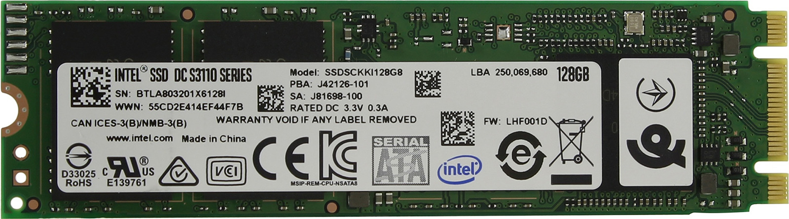 лучшая цена SSD накопитель Intel Original S3110 128GB, SSDSCKKI128G801 963855