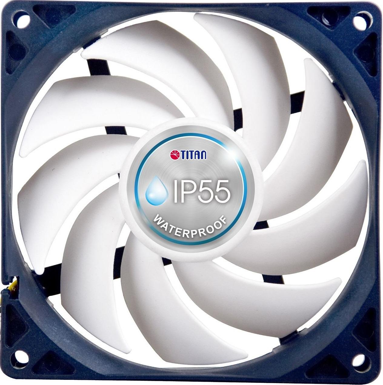 Вентилятор компьютерный Titan, TFD-14025H12B/KW(RB), белый, серый вентилятор мощный