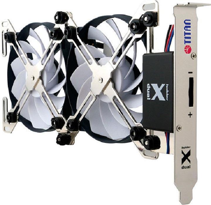цена на Вентилятор компьютерный Titan, TTC-SC07TZ(RB), черный, серый
