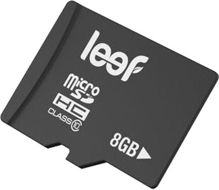 Карта памяти Leef Class 10, с адаптером, LMSA0KK008R5, 8GB карта памяти leef microsdhc class 10 8gb