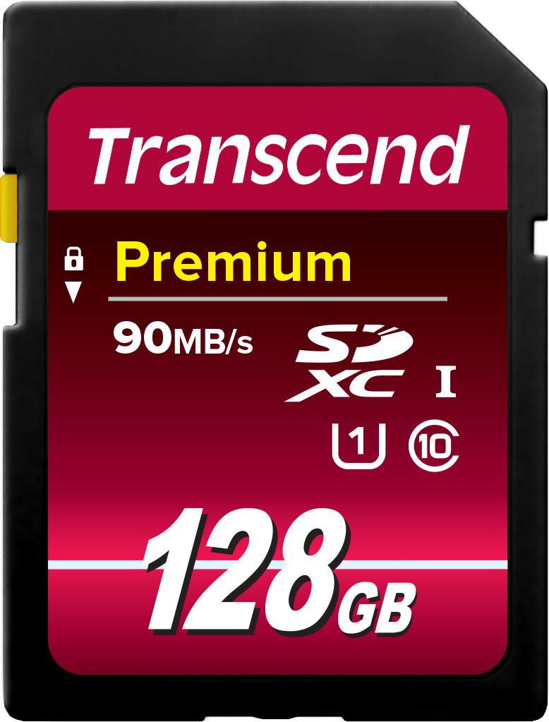 Карта памяти Transcend Premium UHS-I Class 10 U1, TS128GSDU1, 128GB цена и фото