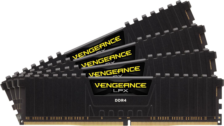 Модуль оперативной памяти Corsair DDR4 4x16Gb 3000MHz, CMK64GX4M4D3000C16 модуль памяти dimm 32gb 2х16gb ddr4 pc24000 3000mhz corsair vengeance black heat spreader custom performance pcb rgb led xmp 2 0 cmr32gx4m2d3000c16
