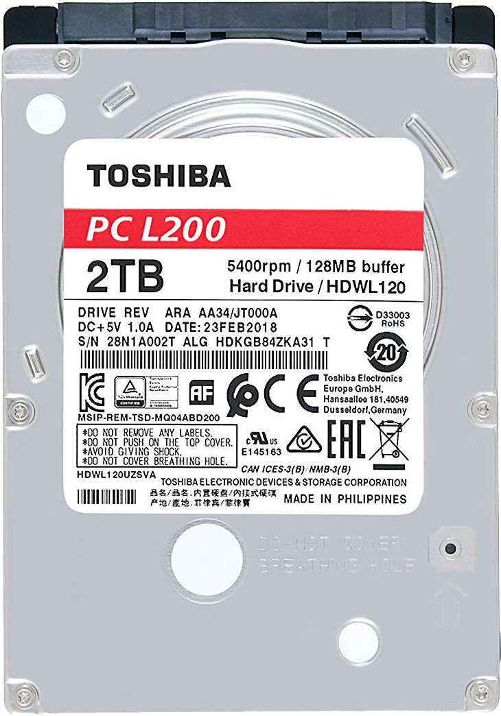 Жесткий диск Toshiba 2TB, HDWL120EZSTA цена