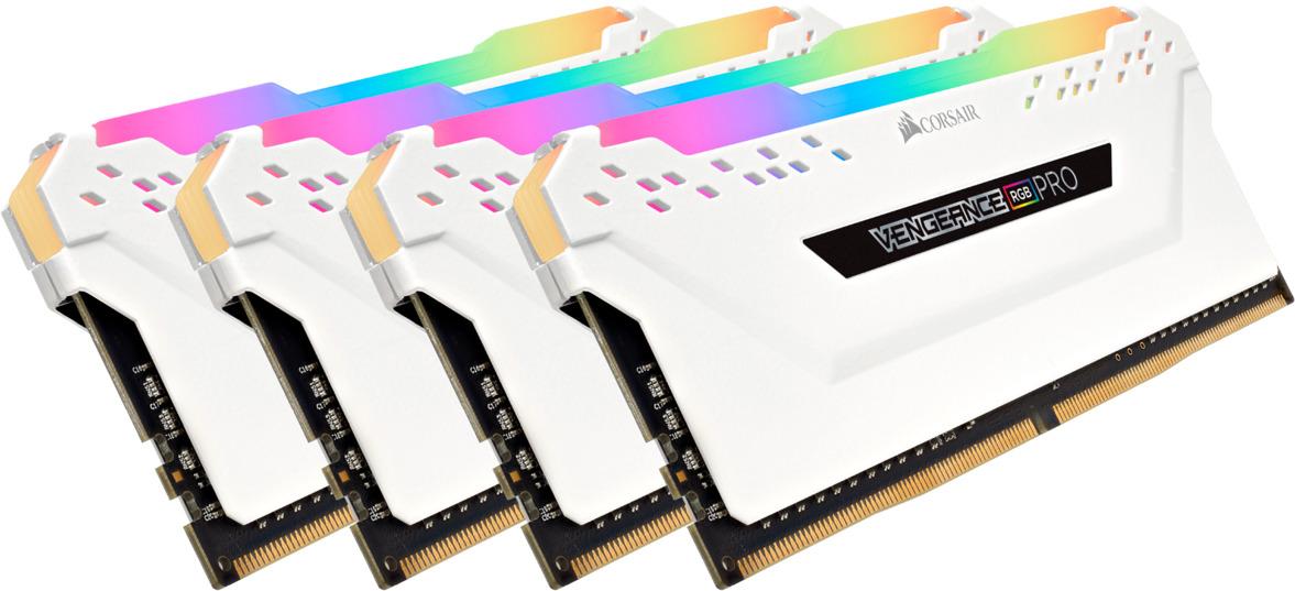 Модуль оперативной памяти Corsair DDR4 4x8Gb 3000MHz, CMW32GX4M4C3000C15W модуль памяти dimm 32gb 2х16gb ddr4 pc24000 3000mhz corsair vengeance black heat spreader custom performance pcb rgb led xmp 2 0 cmr32gx4m2d3000c16
