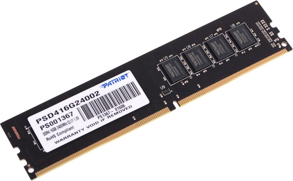 Модуль оперативной памяти Patriot DDR4 16Gb 2400MHz, PSD416G24002