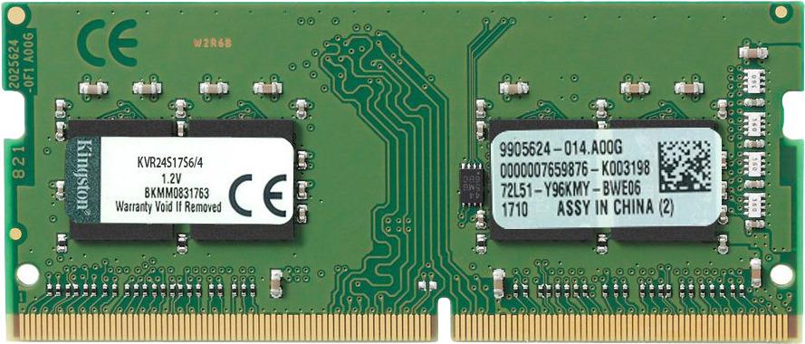 Модуль оперативной памяти Kingston DDR4 4Gb 2400MHz, KVR24S17S6/4